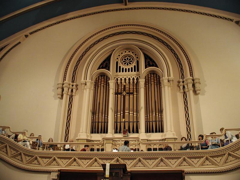 The choir is assembled