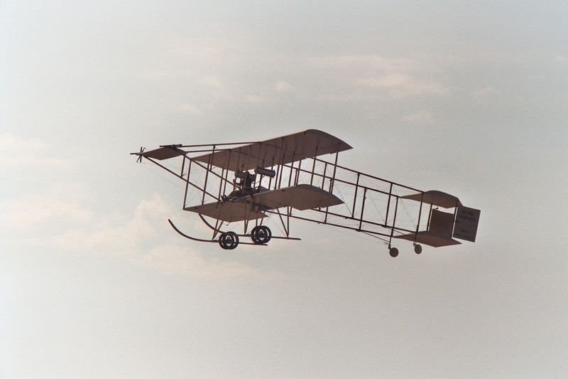 The Farman is in the air