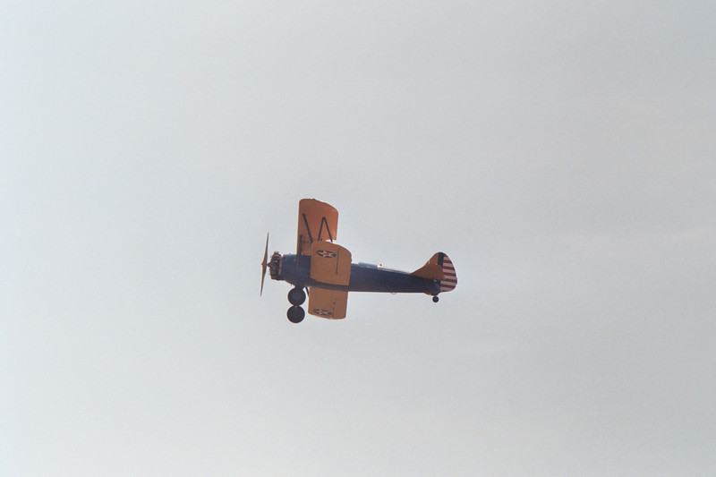 The Stearman takes to the air