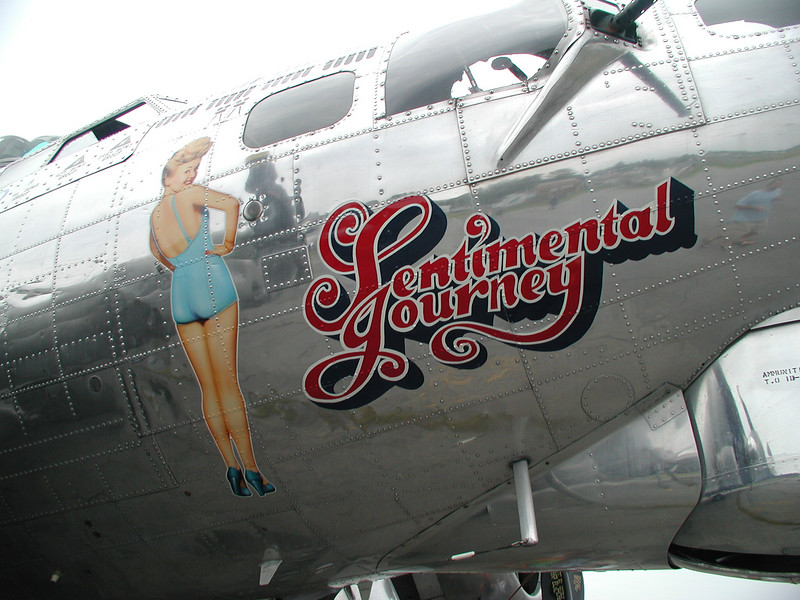 NOSE ART<br /> For those too young to know, that's actress and pin-up girl Betty Grable with her million-dollar legs. She actually insured her legs for a million dollars.