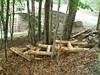Log cribbing steps -- Day Mtn Bridge