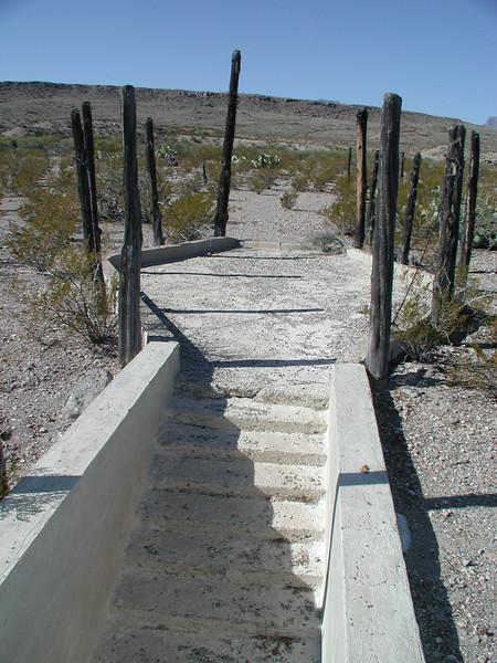 The pit exit