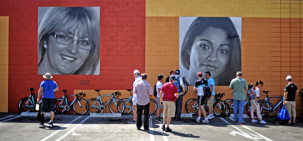 . Bikes are prepared in Newhall before the start of  stage 6 of the Amgen Tour of California bicycle race. (Photo by Hans Gutknecht/Los Angeles Daily News)