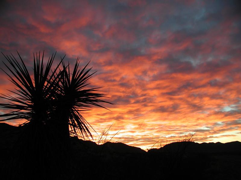 Sunrise over Dog Canyon