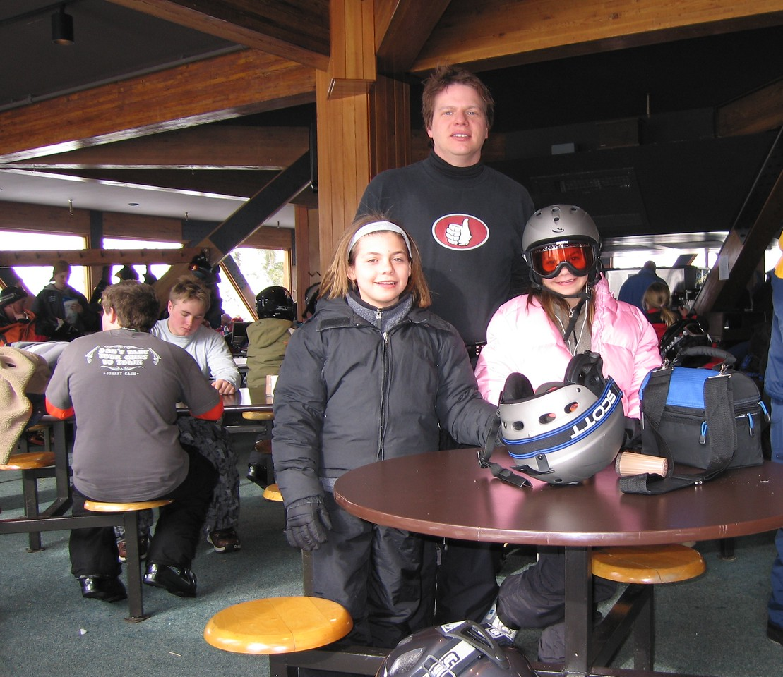 Lunch at the Mid-Gad lodge during a January 14, 2006 snowboarding day