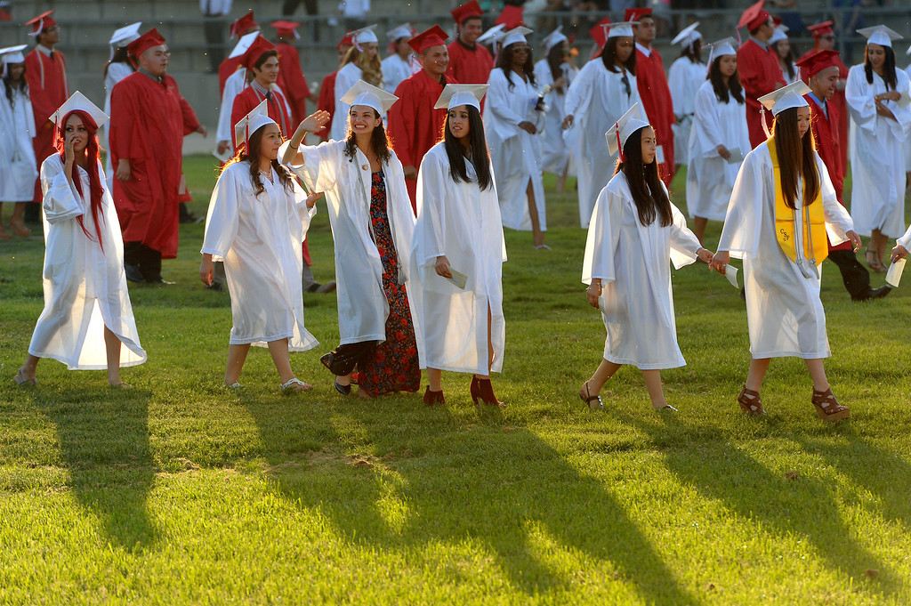 . Graduates enter during the processional at the Taft graduation, Thursday, June 5, 2014. (Photo by Michael Owen Baker/Los Angeles Daily News)