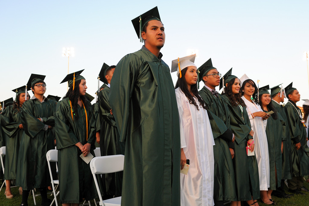 . Graduates at the Canoga Park graduation, Friday, June 6, 2014. (Photo by Michael Owen Baker/Los Angeles Daily News)