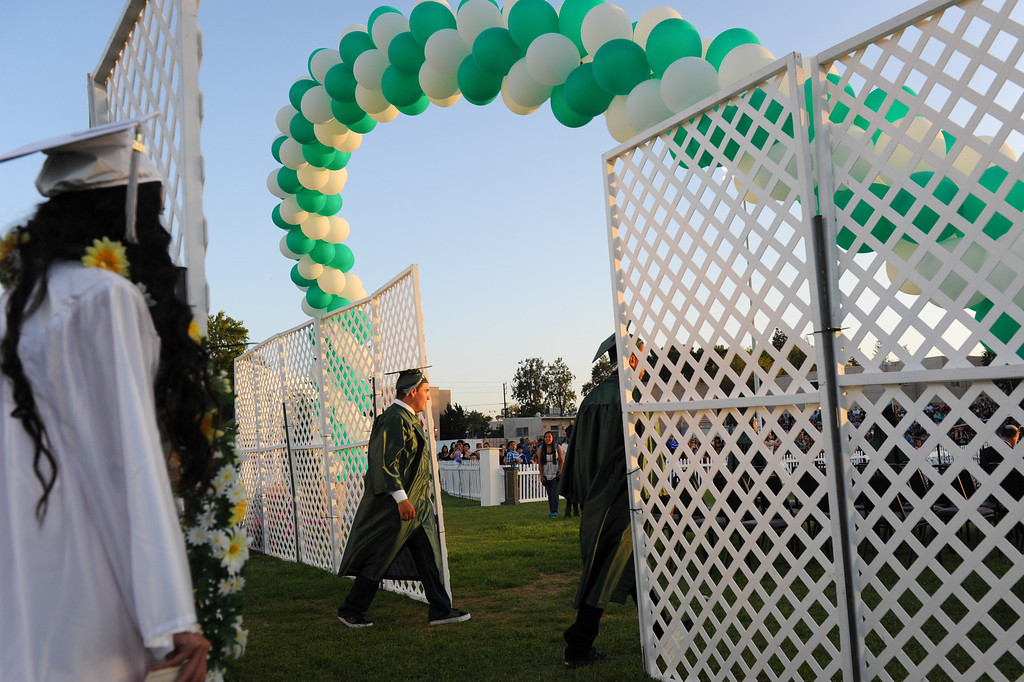 . Canoga Park graduation processional, Friday, June 6, 2014. (Photo by Michael Owen Baker/Los Angeles Daily News)