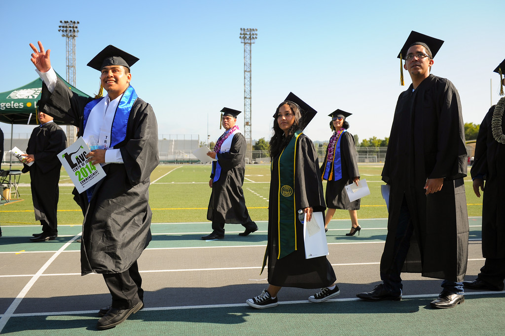 . Los Angeles Valley College graduation ceremony, Tuesday, June 10, 2014. (Photo by Michael Owen Baker/Los Angeles Daily News)
