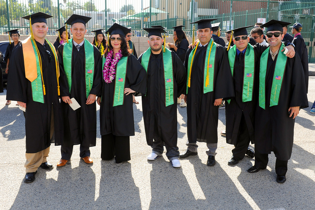 . Valley College graduates who served in the armed forces, Tuesday, June 10, 2014. (Photo by Michael Owen Baker/Los Angeles Daily News)