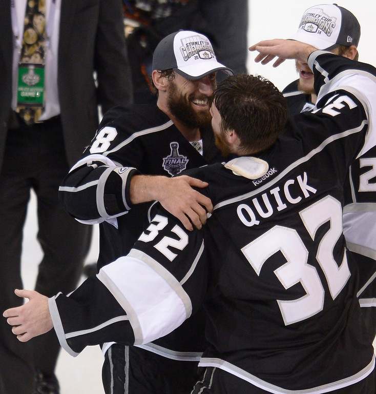 . The Kings defeated the New York Rangers in the second overtime period to win the Stanley Cup at Staples Center in Los Angeles, CA. 6/13/2014(Photo by John McCoy Daily News)