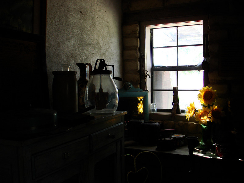 AT THE HALLIE STILLWELL MUSEUM<br /> A moody corner shot in the adobe room that represented Roy and Hallie Stillwell's old home.