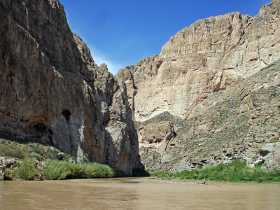 BOQUILLAS CANYON Not quite as graceful and dramatic as Santa Elena Canyon, but impressive nonetheless.