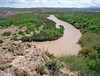 THE RIO GRANDE AT BOQUILLAS<br /> We're taking a little hike into Boquillas Canyon to see what we can see.