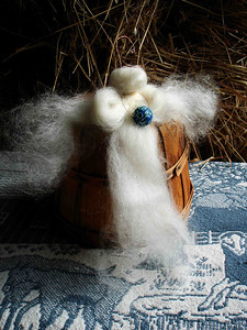 WOOL ANGEL A little something offered for the upcoming holiday season. Very nice!