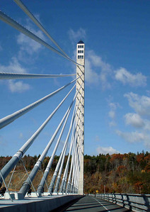 OBSERVATION TOWER One thing this new bridge has to offer -- other than passage across the Penobscot River -- is a 420-ft tall observation tower, reportedly the highest in the US. $8.00 will buy you an elevator ride to the top, as well as a tour through nearby Fort Knox (no gold bullion in this one, though), where access to the tower's elevator is achieved. I was hoping to hit this up before I left, but I just didn't make it. Dang!