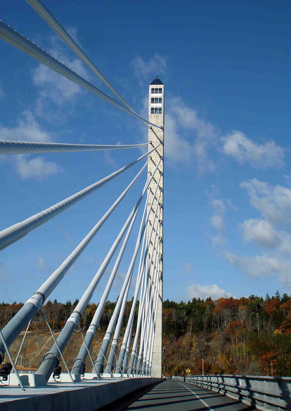 OBSERVATION TOWER<br /> One thing this new bridge has to offer -- other than passage across the Penobscot River -- is a 420-ft tall observation tower, reportedly the highest in the US. $8.00 will buy you an elevator ride to the top, as well as a tour through nearby Fort Knox (no gold bullion in this one, though), where access to the tower's elevator is achieved. I was hoping to hit this up before I left, but I just didn't make it. Dang!