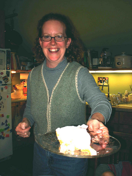 LISA HERSELF<br /> And here she is. offering up yet another homemade treat, Banana Cream Pie. Mighty tasty, folks, and the service was excellent -- as always.