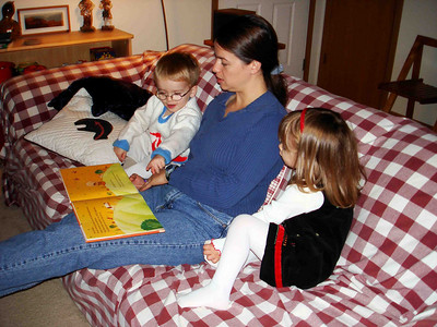 STORYTIME The kids love to be read to, and this one -- about a boy who loves burgers so much he turns into one -- is one of their favorites.