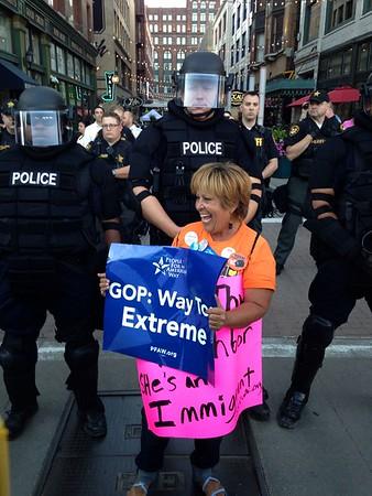 080615 Scene in Cleveland at GOP debate
