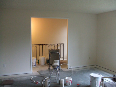 Looking from living room into entry way