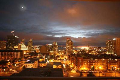 Ночной San Diego. Вид из моего окна.2006