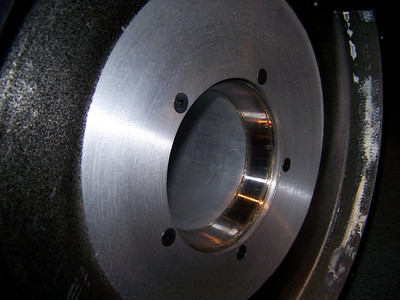 Close-up of the bearing race.