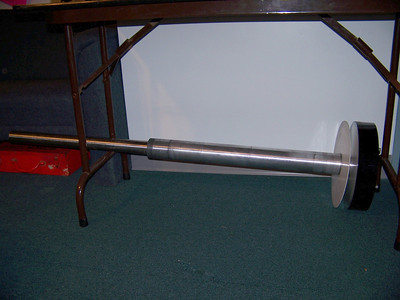 This is the entire DEC shaft assembled- alumium and stainlesss shafts together.