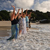 Cleansing Ceremony -- Before their wedding on the Caribbean beach, Holley and Ron and family experienced a beautiful release.