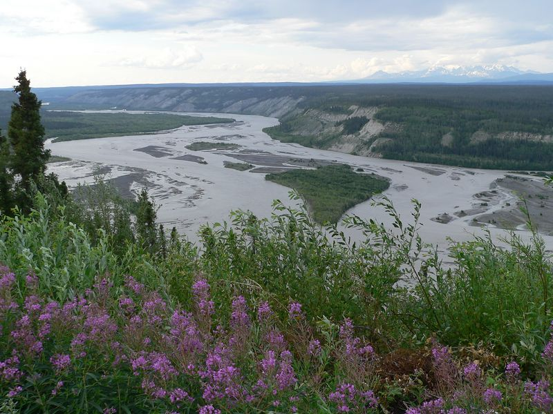 Copper River and bluffs