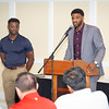 August 13, 2019 - Courtney Johnson presents Young & Established at the 100 Guys Who Care meeting at Evansville Country Club