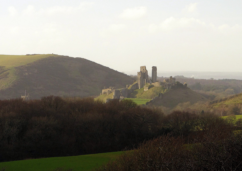 Another picture of Corfe Castle.