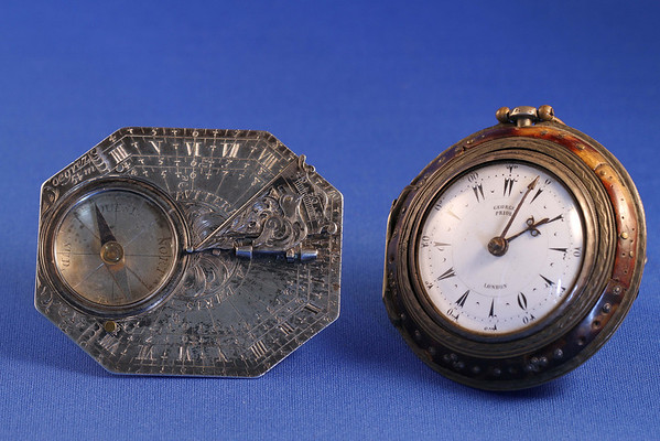 Butterfield Dial and Watch by George Prior, London<br /> circa 1740