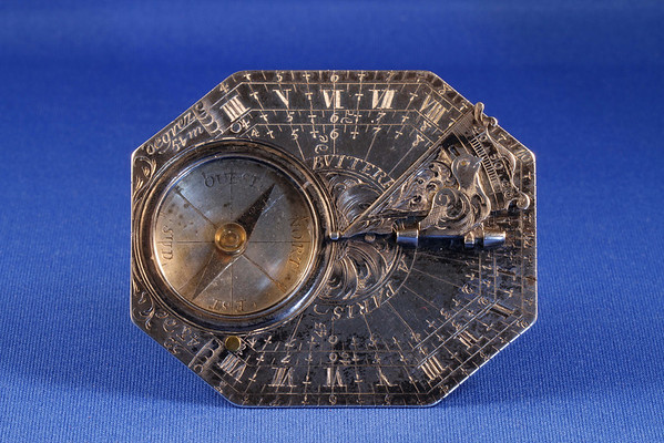 Butterfield dial with gnonom folded down