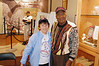 "Jeneane Lesko, former pitcher in the AAGPBL 1956 -1956<br /> Charlie "" Whip"" Davis, former Pitcher in the Negro League 1950 -1955<br /> Photo taken @ the Indiana Baseball Hall of Fame, Jasper, IN<br /> 10-10-2009"