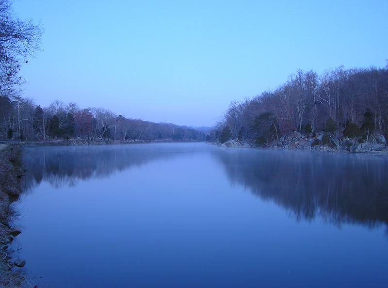 C&O Canal during early morning before sunrise