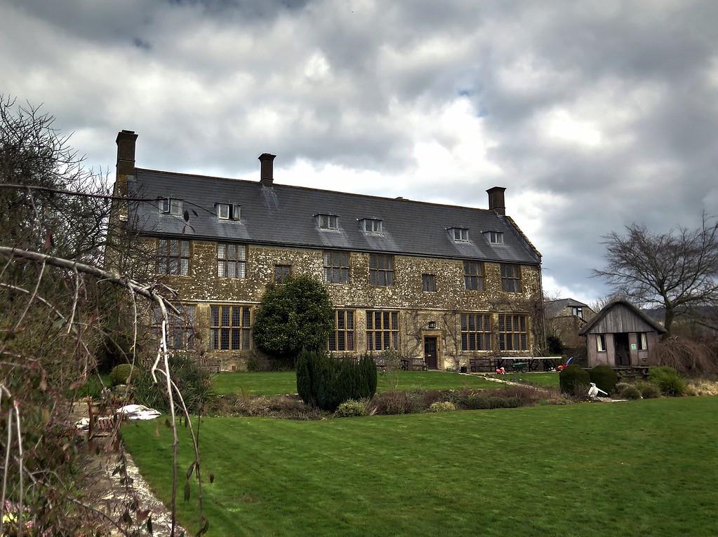 Pilsdon Manor adjacent to the church