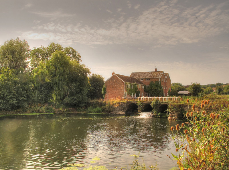 Durweston Mill on the river Stour.