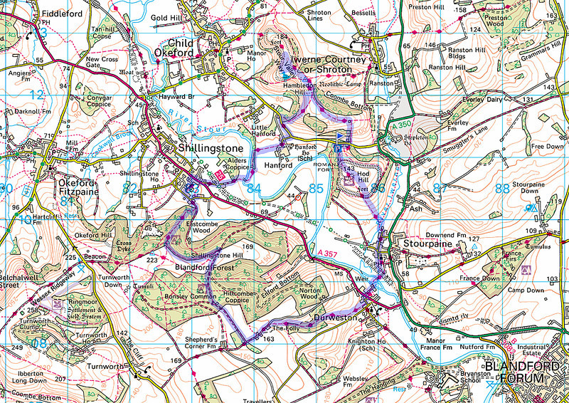 The actual route taken, clockwise.