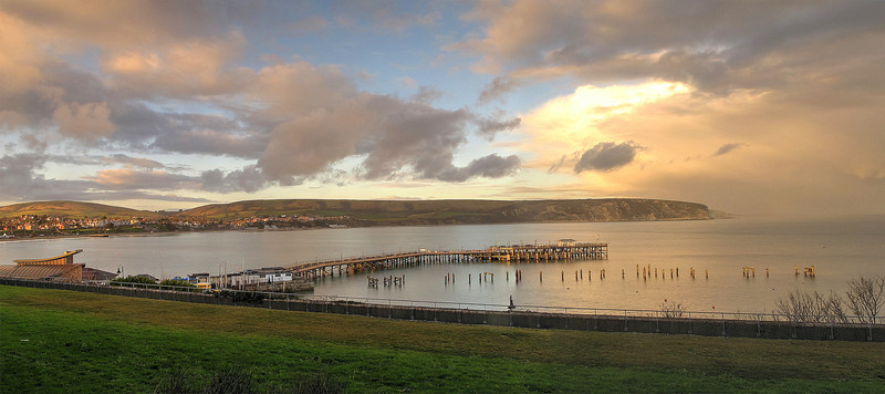 "The refurbished ""new"" pier at Swanage."