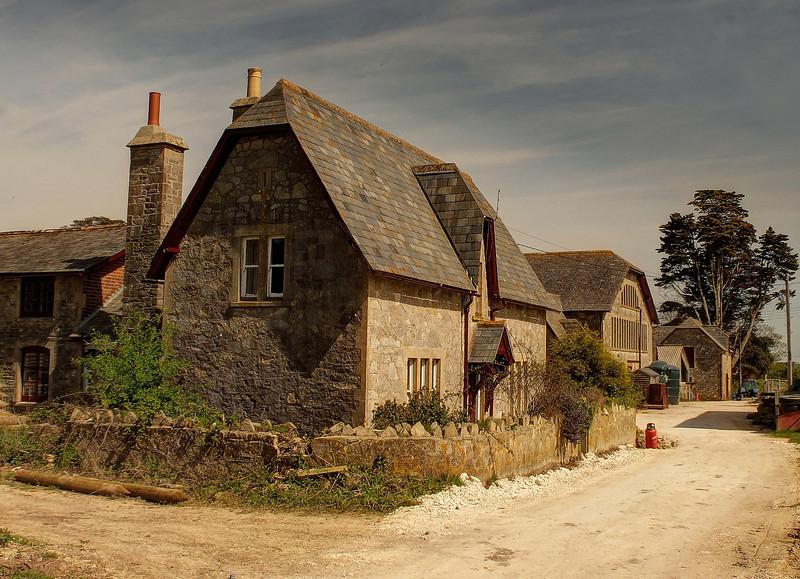 Godlingston Manor farm buildings.