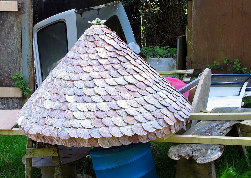 What appears to be an unusual roof feature constructed at Quarr Farm.