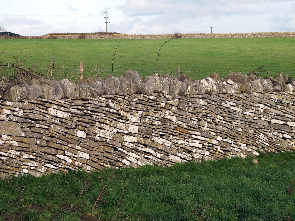 Unusual diagonal laying on this piece of wall gives it an interesting appearance.