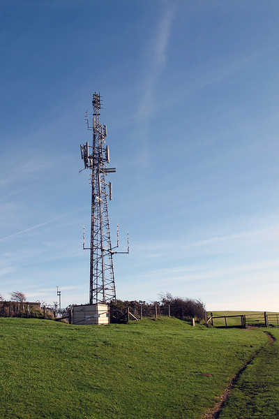 One for the techies - a comms tower up on the ridge East of Corfe Castle - mainly for mobile phones and emergency services by the look of it.