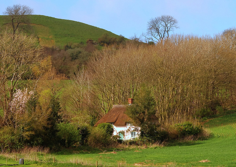 A remote cottage in the lee of Quarry Hill.