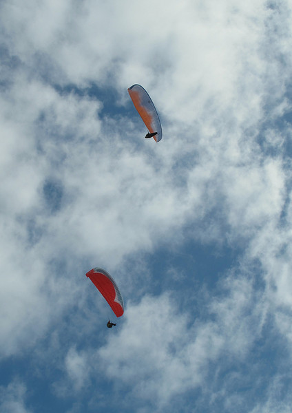 There were several of these paragliders about, taking advantage of the lovely weather.