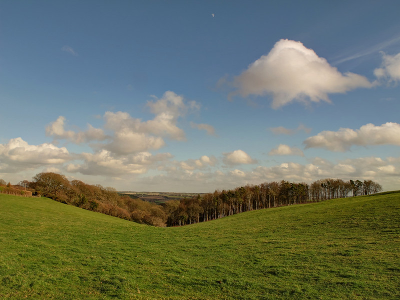 The inviting valley goes on to reach Durweston - I diverged from the Bridleway here moving SE towards Websley Farm.