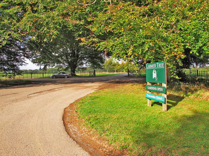 ... and back in late afternoon sun to the car at the entrance to The Larmer Tree Gardens.