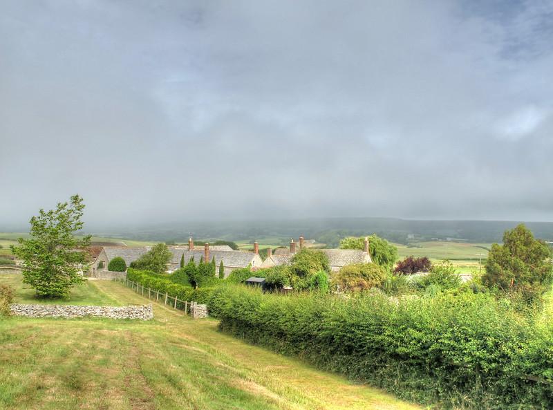 Blashenwell Farm on the path from Kingston towards Corfe Common.