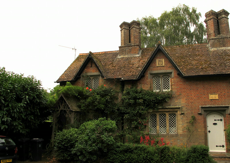 One of the pretty cottages in Canford village